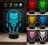 Luce da notte GUFO PORTAFORTUNA Lampada led 7 colori selezionabili Idea regalo c