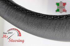 FOR SAAB 9-5 AERO 11-11 BLACK LEATHER STEERING WHEEL COVER BLACK STIT