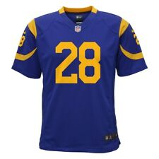 NIKE LOS ANGELES RAMS NFL YOUTH MARSHALL FAULK #28 ON FIELD JERSEY LARGE 14-16