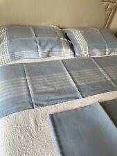 Vintage D Porthault  parure de lit 100% lin bleu ciel