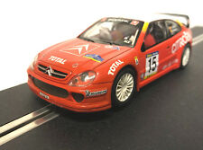 SCX 60770 CITROEN XSARA T4 WRC rosso bianco Luci & 4x4 Scalextric Slot Car