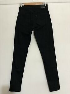 LEVIS WOMENS BLACK DENIM HIGH RISE SKINNY STRETCH JEANS W27L32 WORN ONCE