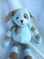 "Bearington Puppy Dog Plush Soft Stuffed Animal Baby 16"" Toy Blue Brown"