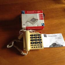 Téléphone filaire, grosses touches, Doro Phone Easy 311C blanc