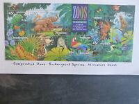 1994 AUST. ZOOS ENDANGERED SPECIES STAMP SHEET O/PRINTED BRISBANE STAMP SHOW