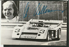 INTERSERIE McLAREN M20 HELMUT KELLENERS HAND SIGNED ORIGINAL PHOTOGRAPH CARD