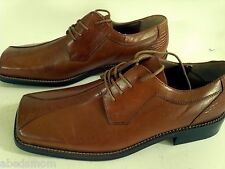 ZENGARA Brown Square Toe Men's Laced Oxford Shoe 10 Medium