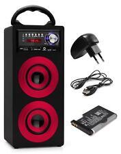 HAUT PARLEUR PORTABLE ENCEINTE BLUETOOTH SYSTEME MP3 USB SD AUX FM UKW SET ROUGE