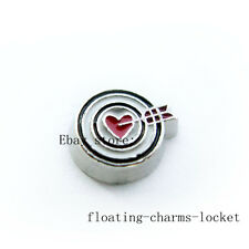 10pcs Arrow Heart Floating Charms for Memory Locket Free Shipping FC1331