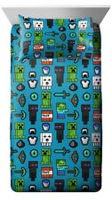 Microsoft Minecraft Children Fitted Sheet Set Single Double