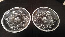 "Set of 2 Vtg Rogaska Yugoslavia Crystal Cut Plate Dish 5.1/4""  Marked"