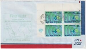 1969 USA Airmail - First Flight - NY-Rio-Johannesburg - Block 4 x 20 Cent Stamps