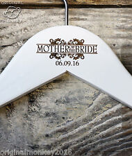 PERSONALISED WEDDING HANGERS COAT HANGER BRIDAL PARTY GIFTS  WHITE WH20