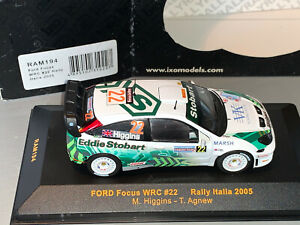 RALLY 1/43 IXO EDDIE STOBART FORD FOCUS WRC RS MARK HIGGINS ITALIA 2005 MSPORT