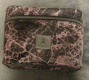 NWT Authentic Jeffree Star Cosmetics Cremated Pink & Black Marble Makeup Bag