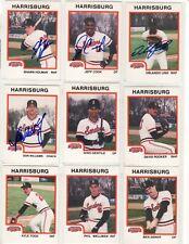 New listing 1987 Harrisburg Senators (PIRATES) Minor League autographed set-13 autographs