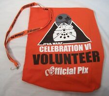 STAR WARS Celebration VI 2xl tshirt and lanyard volunteer officialpix RARE