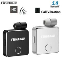 Fineblue F1 Wireless Bluetooth Vibrating Headset Earphone For iPhone Samsung UP