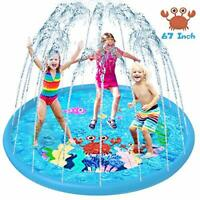 Sprinkler Splash Pad/Water Play Mat for Kids, 67''