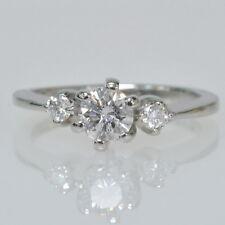 Ladies Platinum 1/2Cttw Round Diamond Three Stone Engagement Estate Ring