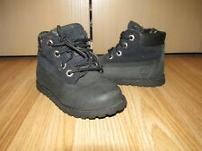 Genuine Boys Toddlers TIMBERLAND Black Nubuck Leather Boots UK 7 / EU 24 Great