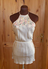 PRINCIPLES champagne beige SILK peach pink floral camisole vest tunic top 10 38