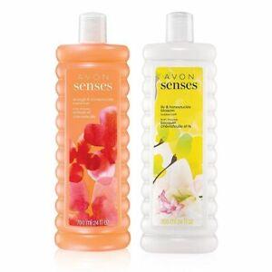 Avon Senses Orange & Honeysuckle + Lily & Honeysuckle Blossom - Bubble Bath Set