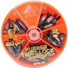 Eagle Claw Rubber Core Twist-Lock Sinkers Dial Pack