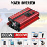 Solar Power Inverter 3000W Peak 12V DC à 230V AC Convertisseur Onduleur LCD