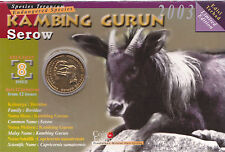 The Endangered Species - Serow Education Coin Card.- 2003