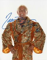 """RIC FLAIR SIGNED WWE PHOTO WRESTLING 8x10"""" WWF WCW THE NATURE BOY"""