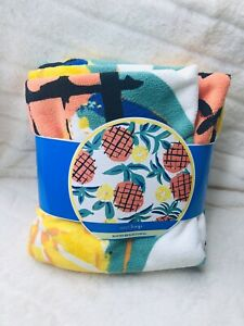 New West Loop Big Round Beach Towel Pineapple  60 X 60 Free Shipping.