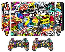 Bombing N262 Skin Sticker for PS3 PlayStation 3 Super Slim & 2 controller skins
