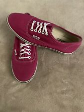 Vans Off The Wall Pink Classic Skate Shoes Womens Size 7