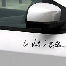 """ La Vita E Bella "" Car Vinyl Sticker Life is Beautiful Styling Quote Decal DIY"