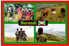 BURUNDI, EST AFRICA - NEGOZIO DI SOUVENIR NOVITÀ MAGNETE DEL FRIGORIFERO - VISTE