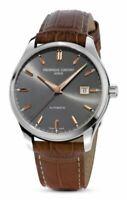 Frederique Constant Automatic Men's Leather Grey 40mm Watch FC-303LGR5B6
