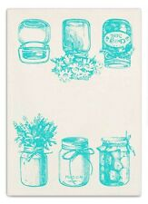 Mason Canning Jars Tea Towel Cotton Vintage Inspired Country Farmhouse 20x28