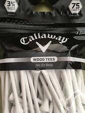 Calloway Golf Tees - 75 Wood Tees 3 1/4 size