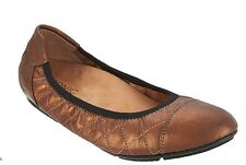 Vionic Orthaheel PRIM AVA Quilted Leather Ballet Flats BRONZE Size 9 M NIB