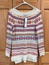 RALPH LAUREN Fair Isle Knit Tunic Sweater Small S NEW! $175 NWT