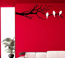 Three Birds On The Branch Wall Decals. Wall Tatoos, Wall Stickers. Many colours.