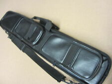 Lucasi LC-3 4x8 Soft Pool Cue Case Black Leatherette w/ FREE Shipping