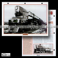 #068.01 Fiche Train - USA 1942 : LOCOMOTIVE TI-4444 Type 2222 (Raymond Loewy)