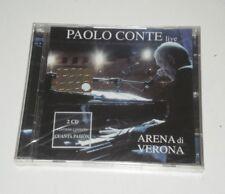 PAOLO CONTE - LIVE ARENA DI VERONA - RARO DOPPIO CD 2005 - NUOVO! SIGILLATO -DP