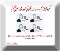 4 Kits TPMS Sensor Service Kit Fits:Acura CSX TL ZDX  Honda Civic CR-Z Element &