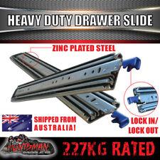 """227kg x 800mm Locking Drawer Slides Heavy Duty Fridge runners 32"""" full extension"""