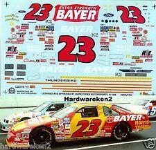 NASCAR DECAL #23 BAYER BGN 1995 THUNDERBIRD CHAD LITTLE SLIXX