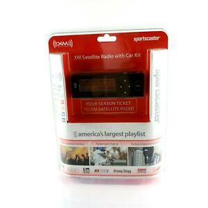 XM Sports Caster Satellite Radio With Car Kit Easy Installation Black USA Seller