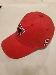 """NWOTs~ Reebok Tampa Bay Buccaneers Vintage Red """"Josh Freeman 5"""" Adjustable Hat"""